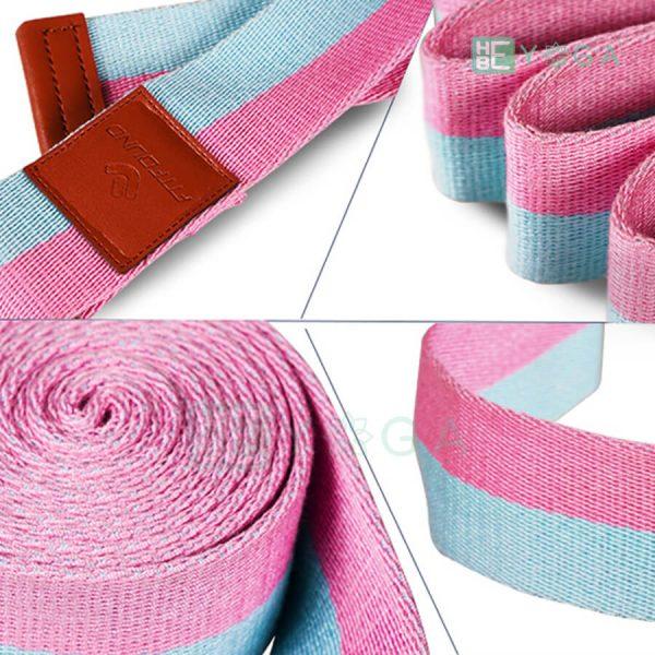 Dây đai tập Yoga FitFound hồng xanh 1