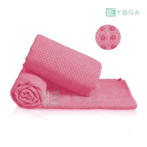 Khăn trải thảm Yoga màu hồng