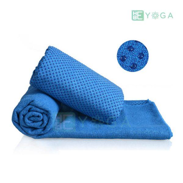 Khăn trải thảm Yoga màu xanh dương