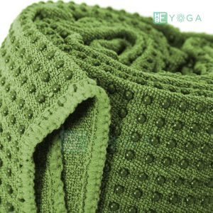 Khăn trải thảm Yoga màu xanh lá 1