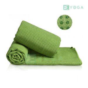 Khăn trải thảm Yoga màu xanh lá