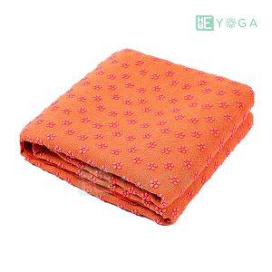 Khăn trải thảm yoga Silicon hoa mai màu cam 1