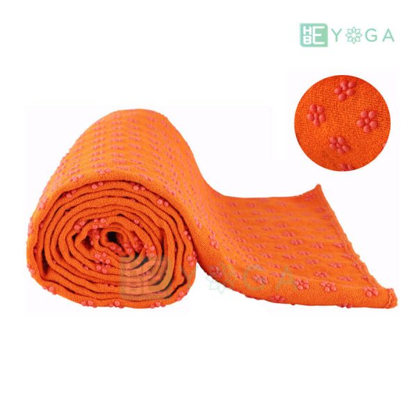 Khăn trải thảm yoga Silicon hoa mai màu cam