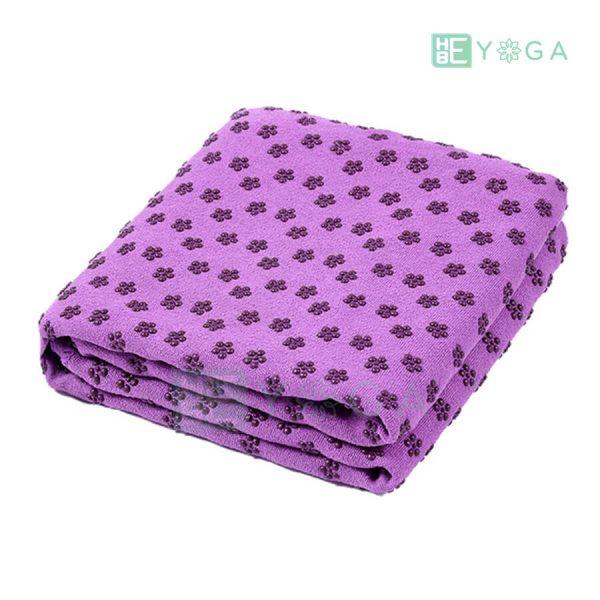 Khăn trải thảm yoga Silicon hoa mai màu tím 1