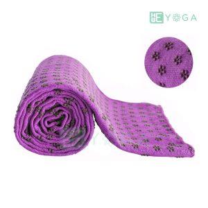 Khăn trải thảm yoga Silicon hoa mai màu tím