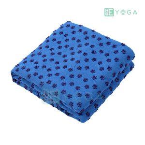 Khăn trải thảm yoga Silicon hoa mai màu xanh dương 1