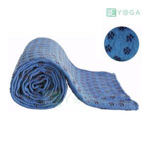 Khăn trải thảm yoga Silicon hoa mai màu xanh dương