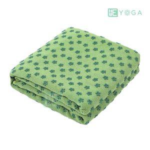 Khăn trải thảm yoga Silicon hoa mai màu xanh lá 1