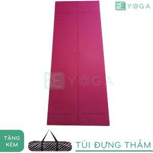 Thảm Yoga TPE Relax Định Tuyến 6mm 2 lớp (màu Tím Đậm) - Tặng kèm túi