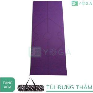 thảm yoga định tuyến tpe 2 lớp 6mm (màu tím đạm)