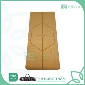 Thảm Yoga TPE Định Tuyến Gỗ Bần 5mm 2 lớp