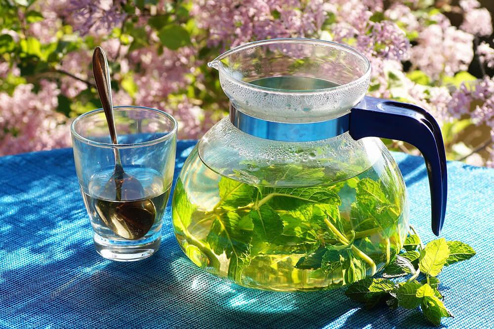Uống trà gừng hoặc bạc hà