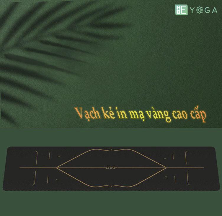 Thảm Tập Yoga Định Tuyến Hebeyoga Bronzing Pu Cao Su Vạch Kẻ Mạ Vàng 5mm Cao Capá